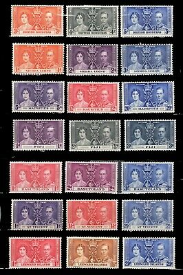Commonwealth Colonies X 7**  Mh Og  Kg Vi  1937 Coronation Issues F-Vf