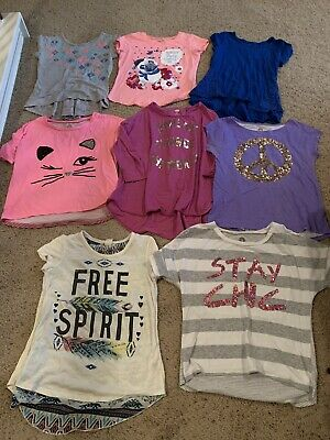 Girls Top's Lot Size M 10/12 (8 Tops) Total Girl Arizona Old Navy
