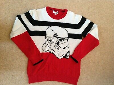 GAP Boys Star Wars Knitted Red Jumper Age 14-16 Years (XXL)