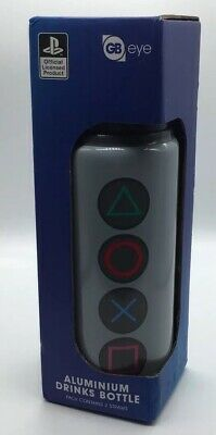 Playstation Button Aluminium Drinks Bottle 700ml ** Brand New **