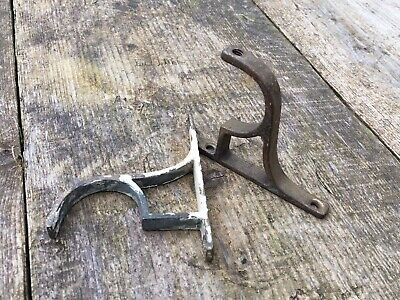 Antique French Brass Curtain Pole Brackets