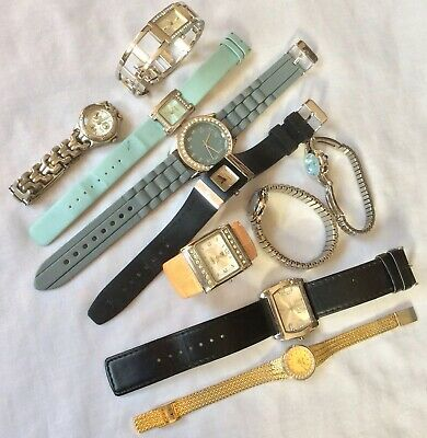 Job Lot x 10 Collection Of Vintage/Modern Ladies Watches For Spares/Repair