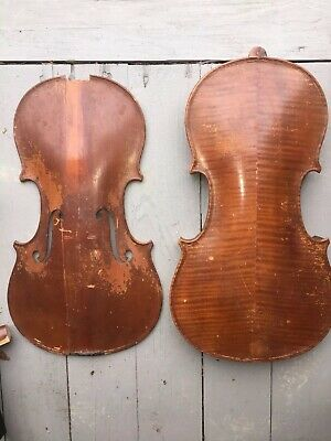 """1800s FRENCH?  VIOLIN 14"""" 23 1/4 """" Label 1760 AUG??"""