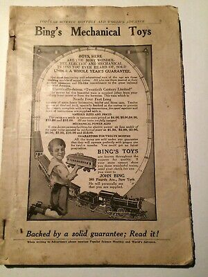 1915 POPULAR SCIENCES MONTHLY December NO COVER Great Articles Ads LOOK