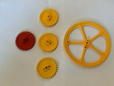"""Lot of 8 Knex Large Big Yellow 5/"""" inch Crown Gear K/'nex Replacement Peices"""
