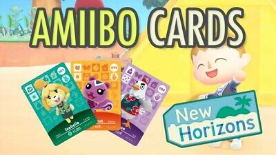 Animal Crossing Amiibo Cards-UNSCANNED US VERSIONS Series 1-4 1-400) You Pick!
