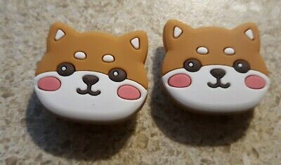 Lot of 2 Brown Cats charms for Croc shoes Craft. Scrapbook or cake decorating