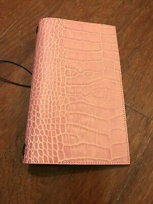 Gillio Firenze Travelers Notebook TN Giramondo Croco Bubblegum Mat Travellers