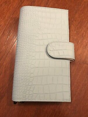 Gillio Firenze Travelers Notebook TN Slim Hobonichi Appunto Croco Mat Ocean Blue