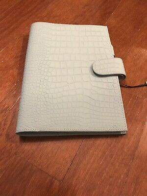 Gillio Firenze Travelers Notebook TN A5 Appunto Croco Mat Ocean Blue
