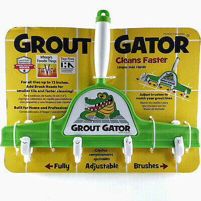 Grout Gator Cleaning Brush Head w/ 4 Brushes NEW - CLEAN GROUT FAST