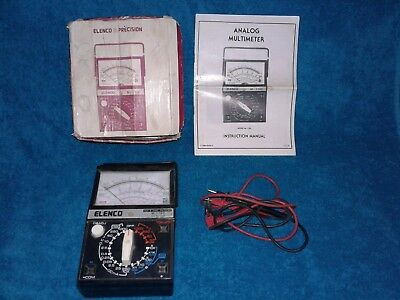 Vintage 1984 ELENCO Precision M-1100 Multimeter