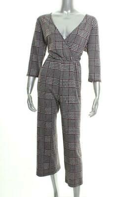 New Women's NY Collection Petites Plaid Belted Jumpsuit Size PXS