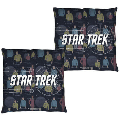 """TOS /""""Final Frontier/"""" Double Sided Throw or Body Pillow Star Trek"""