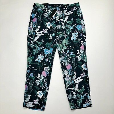 Banana Republic Womens Size 6 Avery Straight Fit Mid Rise Floral Ankle Pant