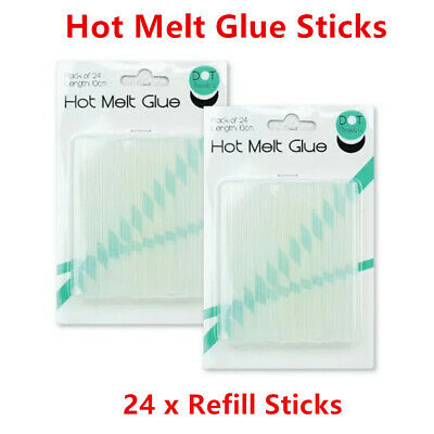 24 x Clear Hot Melt Glue Gun Refill Stick 7MMx10cm Sticks Adhesive Art Craft