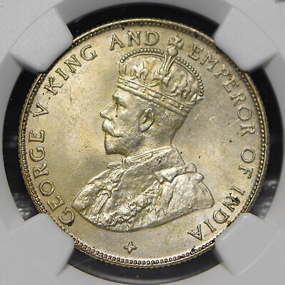 Straits Settlements 1921 50 Cents NGC MS64 NG0906 combine shipping