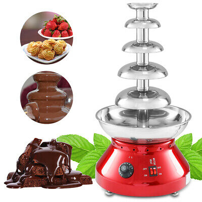5 niveles 230W 304 Steel Electric Fondue de Chocolate Fuente Inoxidable