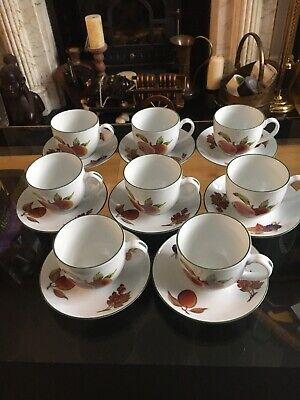 Royal Worcester Evesham Vale Coffee Cup & Saucer