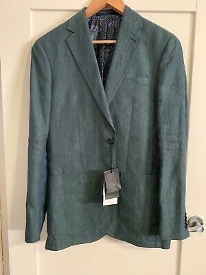 Country Road Size 38 Modern Fit 100% Linen Sports Suit Jacket Current Season NEW