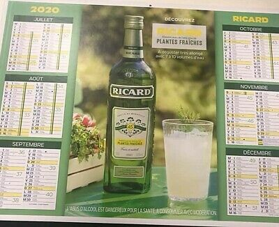 COLLECTOR CALENDRIER RICARD ANNEE 2012 CL3 *