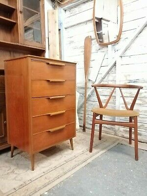 Mid Century Retro Vintage Teak Chest of Drawers Tallboy * DELIVERY POSS * danish