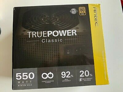 Antec True Power Classic 550 Watts 80 Plus Gold - 92% Max Efficiency