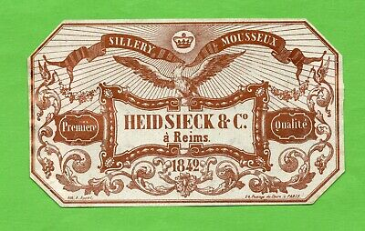 tres ancienne lithographie champagne  HEIDSEICK  1842