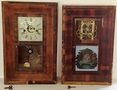 2 Smaller Og Clocks; Waterbury And New Haven Clock Co.; Working 30 Hr. T&S Movts