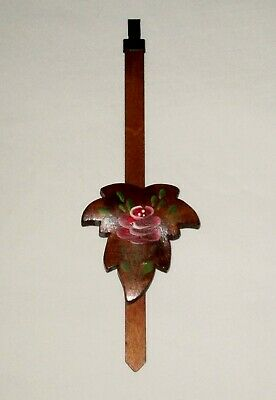 Maple Leaf Cuckoo Clock Pendulum with Rose for One-Day Cuckoo Clocks - NEW