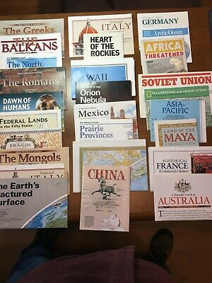 National Geographic Maps/Inserts - Lot of 80 - various from 1981-2006.