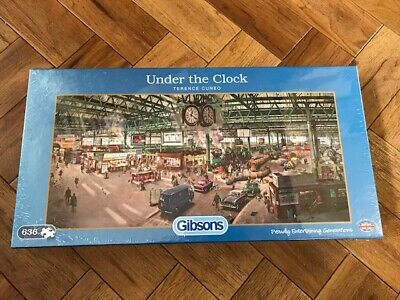"Gibsons Puzzle - ""Under the Clock"" - 636 pcs - Brand New Sealed"
