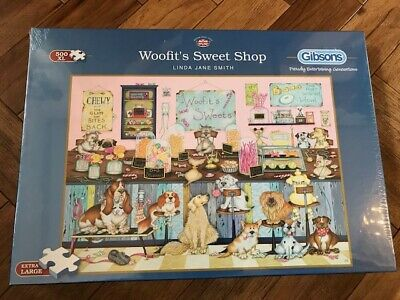 "Gibsons Puzzle - ""Woofit's Sweet Shop"" - 500 XL pcs - Brand New Sealed"