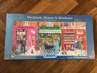 "Gibsons Puzzle - ""Beehives, Beans & Bonbons"" - 636 pcs - Brand New Sealed"