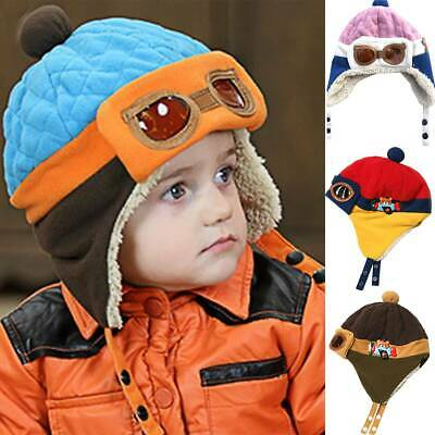 Toddler Kids Boys Girls Winter Warm Beanie Cartoon Cap Casual Soft Hat Outdoor