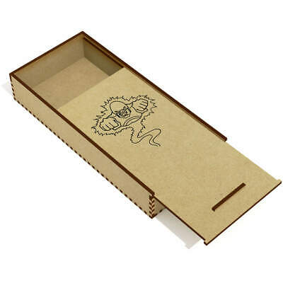 'Flying Superhero' Wooden Pencil Case / Slide Top Box (PC00001189)