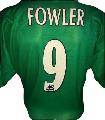 Signed Robbie Fowler Retro Numbered Away Shirt