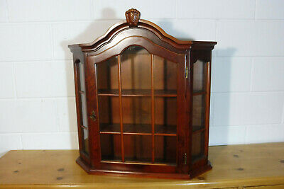 Antique Wall Cabinet Cupboard Hanging Cabinet Mahogany wood