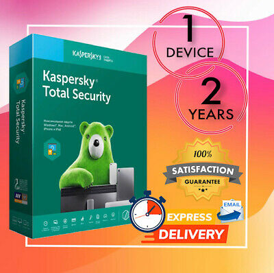Kaspersky Total Security Antivirus 1 Device 2 Year 2020 - Email License Code