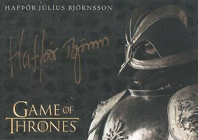 Game Of Thrones Season 8, Hafpor Julius Bjornsson (Gregor) Gold Autograph Card