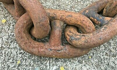 """90 feet of Used 1"""" Diameter Stud Link ANCHOR CHAIN"""