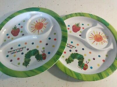 The Very Hungry Caterpillar Children's Divided Plate Lot Melamine Plastic