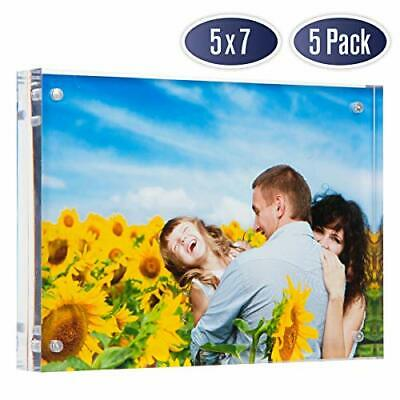 Dasher Products Acrylic Picture Frame 5x7 (5 Pack)