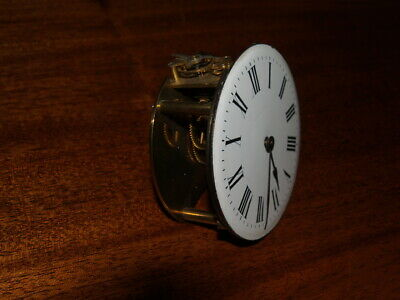 Antique French clock movement and dial