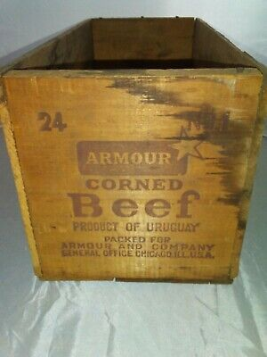 Vintage Armour wooden crate