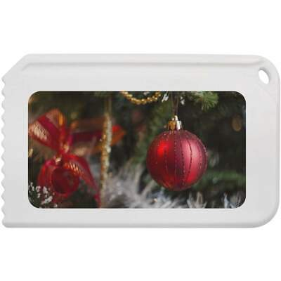 'Red Christmas Bauble' Plastic Ice Scraper (IC00003950)
