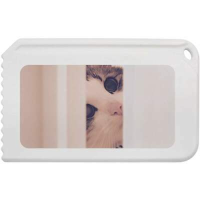 'Cat Peering Through Door' Plastic Ice Scraper (IC00003910)
