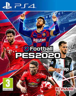 PS4 eFootball PES 2020 EU Videogame Sony Play Station 4 gioco nuovo