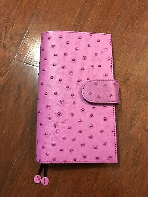 Gillio Firenze Travelers Notebook TN Slim Appunto Purple Ostrich Print