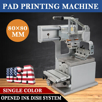 Manual Pad Printing Machine Pad Printer Opened Ink Dish System DIY Logo Transfer